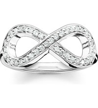 Thomas Sabo Glam And Soul Sterling Silver And Zirconia Pave Infinity Ring