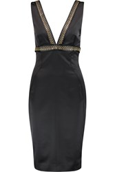 Just Cavalli Embellished Satin Dress Black