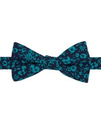 Tommy Hilfiger Men's Printed Floral Pre Tied Bow Tie Mint