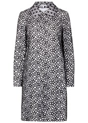 Paule Ka Monochrome Guipure Lace Coat Black
