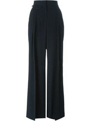 Christophe Lemaire Lemaire Pleated Palazzo Trousers Blue
