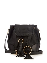 See By Chloe Polly Leather Cross Body Bucket Bag Black