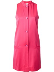 Stephen Sprouse Vintage Buttoned Sleeveless Dress Pink And Purple