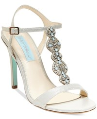 Blue By Betsey Johnson Chloe Evening Sandals Women's Shoes Ivory