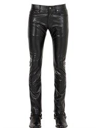 Saint Laurent 17.5Cm Stretch Faux Leather Jeans