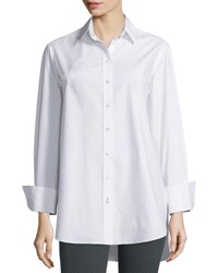 Joseph Emile Oversized Button Front Poplin Blouse White