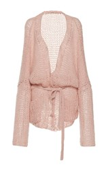Manoush Grunge Stitch Cardigan Pink