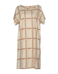 Douuod Dresses Knee Length Dresses Women Beige