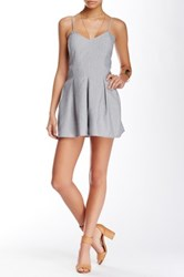 Romeo And Juliet Couture Pleated Romper Gray