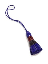 Nancy Gonzalez Multicolor Crocodile Tassel Charm Dark Pink Cobalt