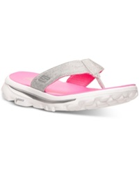 Skechers Women's Gowalk Move Solstice Sport Sandals From Finish Line Gray Hot Pink