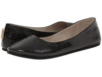 French Sole Sloop Black Small Crackle Women's Flat Shoes