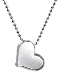 Little Princess By Alex Woo Heart Pendant Necklace In Sterling Silver