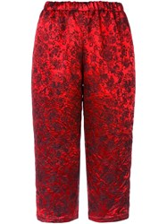 Comme Des Garcons Cropped Trousers Red