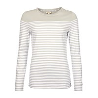 Barbour Staithes Jersey Top Silver Ice