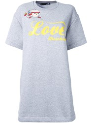 Love Moschino Logo T Shirt Dress Grey