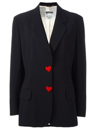 Moschino Vintage Ace Of Hearts Blazer Black