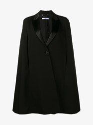 Givenchy Wool Cape Black Rose