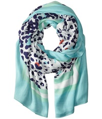 Lilly Pulitzer Lillian Scarf Bright Navy Get Spotted Scarves Green
