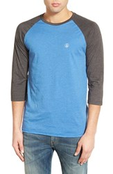 Men's Volcom Three Quarter Raglan Baseball T Shirt