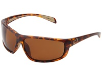Native Bigfork Tigers Eye Brown Polarized Lens Plastic Frame Sport Sunglasses