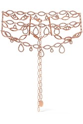 Erickson Beamon Princess Rose Gold Plated Swarovski Crystal Choker
