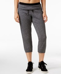 Calvin Klein Performance Capri Jogger Sweatpants Black Heather