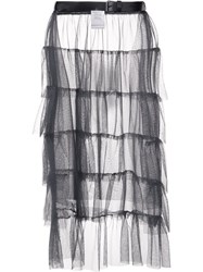 Area Di Barbara Bologna Ruffled Sheer Skirt Grey