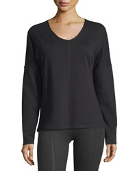 Yummie Tummie Long Sleeve Drop Shoulder Top Black