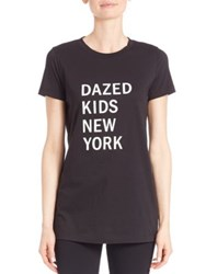 Dkny Cotton Dazed Graphic Tee Black