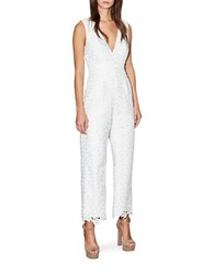 Cynthia Rowley Floral Lace Jumpsuit White