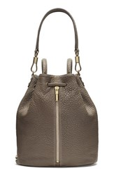 Elizabeth And James 'Cynnie' Leather Sling Backpack Grey Koala