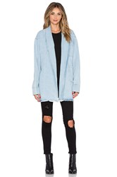 Asilio The Heff Denim Trench Coat Blue