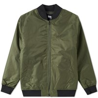 Stussy Flight Satin Bomber Jacket Green