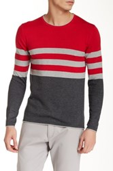 Parke And Ronen Killy Long Sleeve Crew Neck Sweater Red