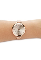 Forever 21 Buckle Strap Analog Watch Rose Gold