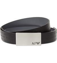 Armani Jeans Reversible Plate Leather Belt Nero