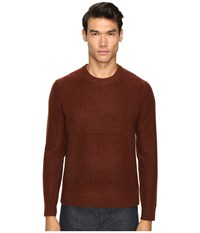Vince Boiled Cashmere Crew Neck Sweater Bark Men's Sweater Brown