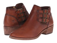 Frye Ray Belted Bootie Cognac Washed Oiled Vintage Cowboy Boots Brown