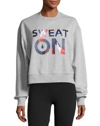 Barrelusa Sweat On Graphic Crop Sweatshirt Gray