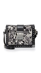 Mcm Mitte Brocade Cross Body Bag Black Black