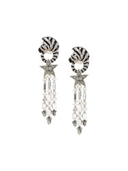 Roberto Cavalli 'Zebra' Earrings Metallic