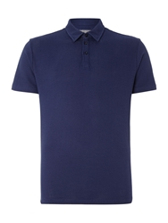 Peter Werth Lombard Textured Slim Fit Polo Shirt French Navy