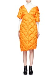 Acne Studios 'Baltimore Down' Convertible Quilted Puffer Coat Orange