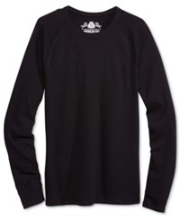 American Rag Men's Long Sleeve Thermal Shirt Only At Macy's Deep Black