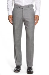 Men's Big And Tall Ballin Flat Front Sharkskin Wool Trousers Black White