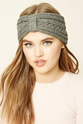 Forever 21 Cable Knit Bow Front Headwrap