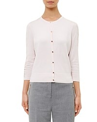 Ted Baker Ginahh Lace Inset Cardigan Dusky Pink