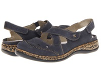 Rieker 46379 Daisy 79 Navy Women's Hook And Loop Shoes