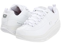 Skechers Slip Resistant Shape Ups White White Women's Lace Up Casual Shoes